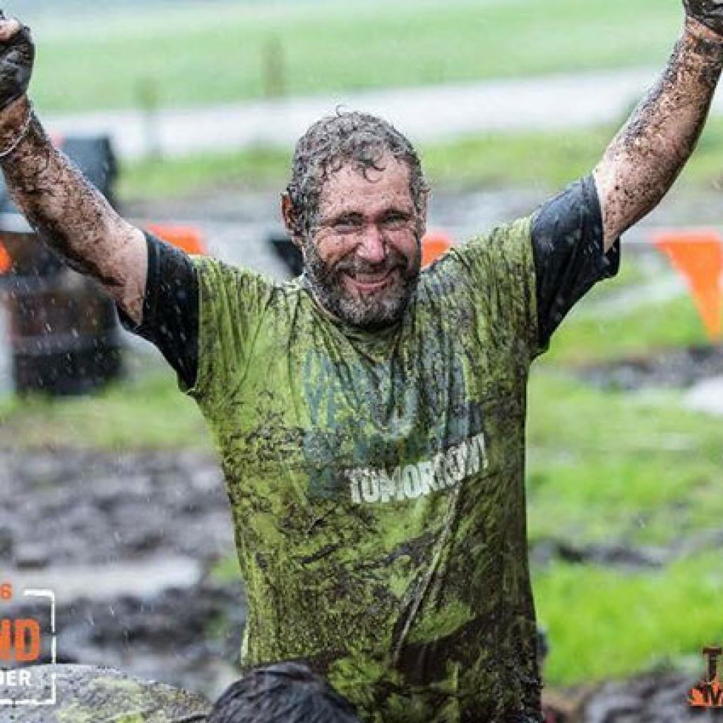 Tom Fahy after he completed his first Tough Mudder in 2017